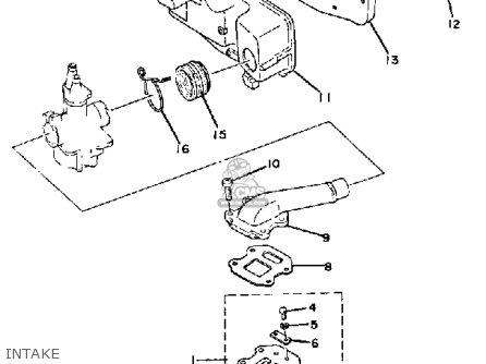 Yamaha Qt50j Yamahopper 1982/1983 Usa parts list