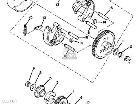 Yamaha Qt50k Yamahopper 1982/1983 parts list partsmanual