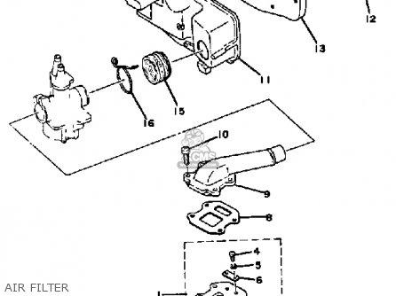 Yamaha Qt50s 1986/1987 Usa parts list partsmanual partsfiche