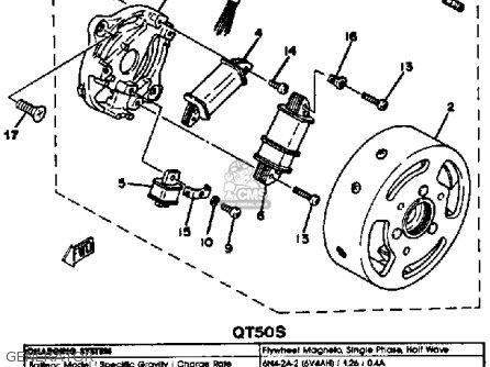 Yamaha Qt50t 1986/1987 Usa parts list partsmanual partsfiche
