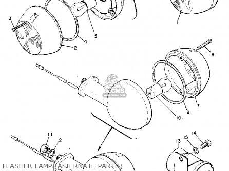Yamaha R3 1969 USA parts lists and schematics