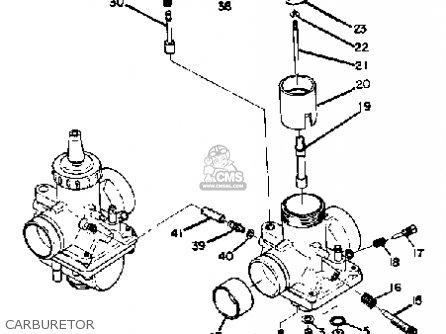 Yamaha R5 1970-1972 parts list partsmanual partsfiche