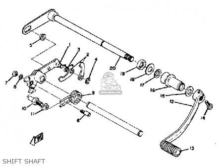 Yamaha R5b 1971 Usa parts list partsmanual partsfiche