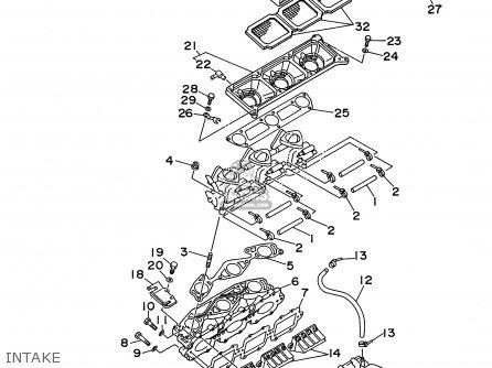 Yamaha Ra1100u 1996 Usa parts list partsmanual partsfiche