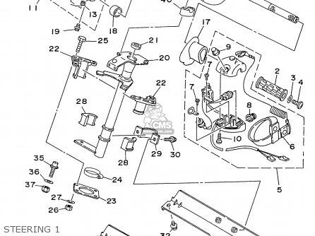 Yamaha Ra700bu 1996 parts list partsmanual partsfiche