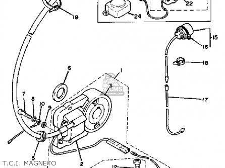 Yamaha RC100S KT100S RACE KART parts lists and schematics