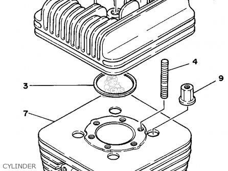 Yamaha Rc100s/kt100s 1994 parts list partsmanual partsfiche