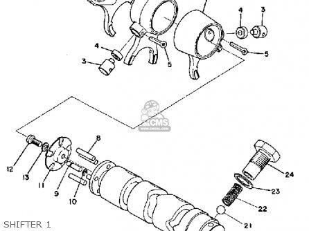 Yamaha Rd125 1975 Usa parts list partsmanual partsfiche