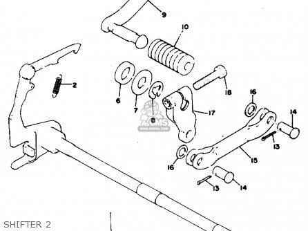 Yamaha Rd125 1976 Usa parts list partsmanual partsfiche