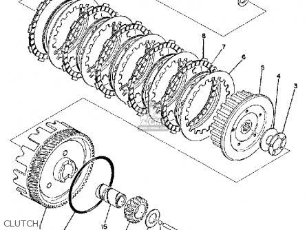 Yamaha Rd125b 1975 parts list partsmanual partsfiche