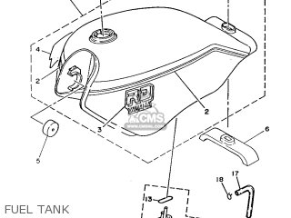 Yamaha Rd125lc 1986 2hk England 262hk-310e1 parts list