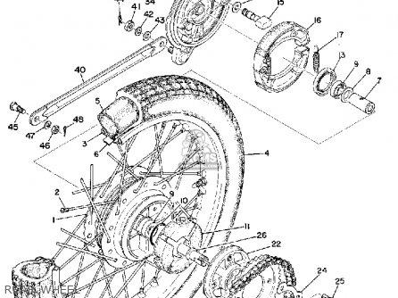 Yamaha RD200 1974 USA parts lists and schematics