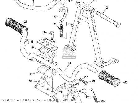 Yamaha RD200 1974 USA parts lists and schematics
