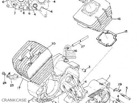 Yamaha Rd200 1975 Usa parts list partsmanual partsfiche