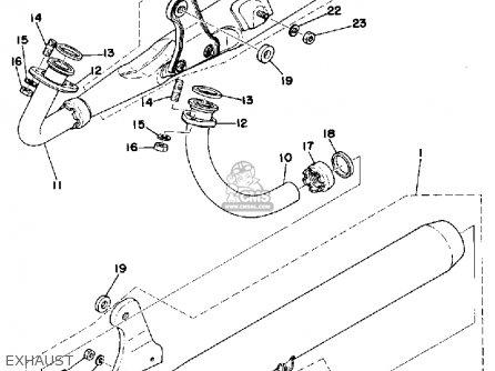 Yamaha Rd200 1976 Usa parts list partsmanual partsfiche