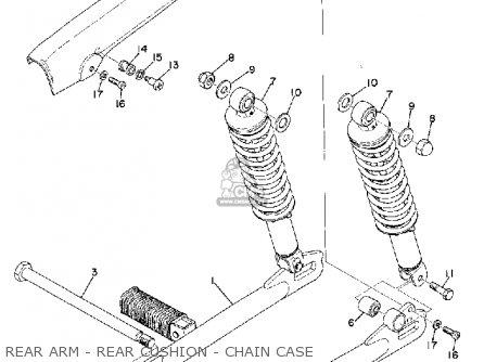 Yamaha Rd200b 1974/1975 parts list partsmanual partsfiche