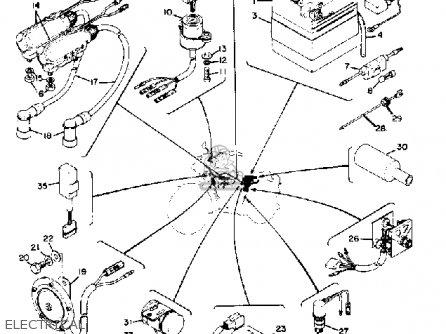 Yamaha RD250 1973 USA parts lists and schematics