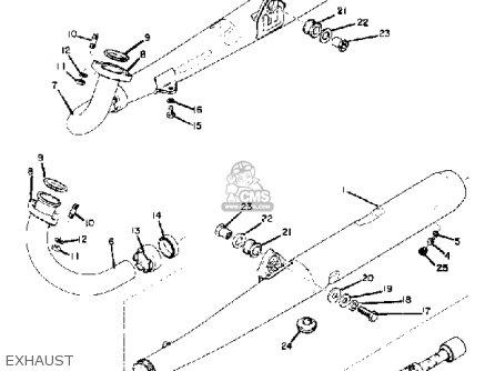 Yamaha Rd250 1973 Usa parts list partsmanual partsfiche