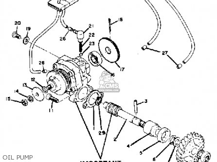 Yamaha Rd250 1974 Usa parts list partsmanual partsfiche