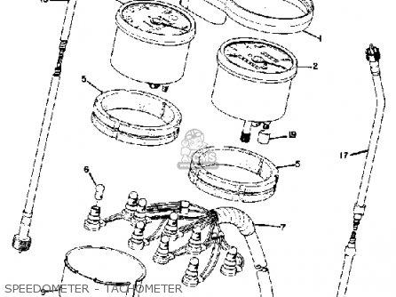 Yamaha Rd250 1974 Usa parts list partsmanual partsfiche
