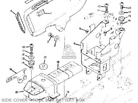 Yamaha RD250 1975 USA parts lists and schematics
