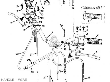 Yamaha Rd250a 1973-1975 parts list partsmanual partsfiche