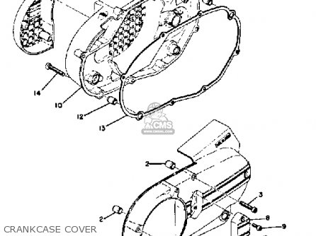 Yamaha Rd350 1973 Usa parts list partsmanual partsfiche