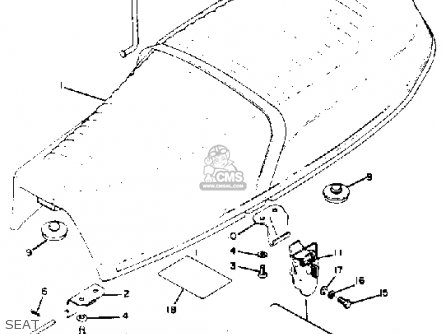Yamaha RD350 1973 USA parts lists and schematics