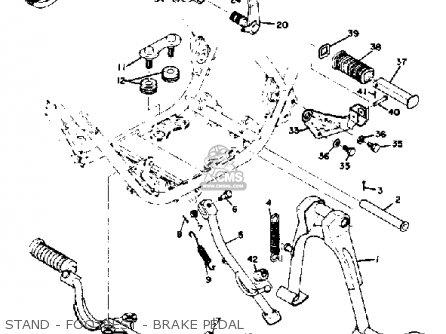Yamaha Rd350 1973 Usa parts list partsmanual partsfiche