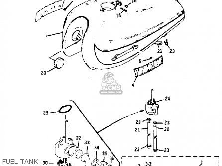Yamaha Rd350 1973/1975 parts list partsmanual partsfiche