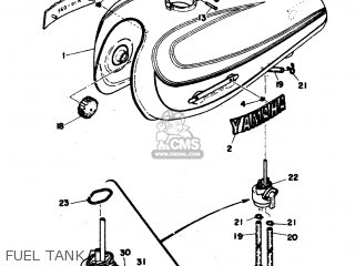 Yamaha RD350 1974 RD1 EUROPE 24RD0-300E1 parts lists and