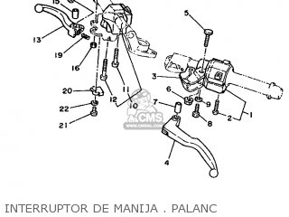 Yamaha RD350LC 1986 1WR SPAIN 261WR-352S1 parts lists and