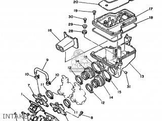 Yamaha RD350LCF 1988 3DH1 ENGLAND 283DH-310E1 parts lists