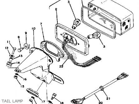 Yamaha Rd400 1976 Usa parts list partsmanual partsfiche