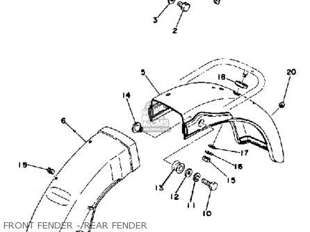 Yamaha Rd400 1977 Usa parts list partsmanual partsfiche