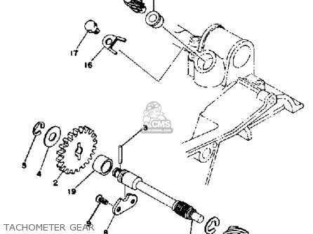 Yamaha Rd400 1977 Usa parts list partsmanual partsfiche