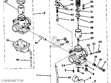 Yamaha RD400 1978 USA parts lists and schematics