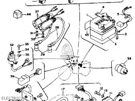 Yamaha Rd400 1978 Usa parts list partsmanual partsfiche