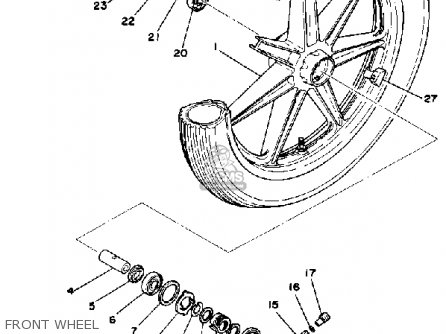 Yamaha RD400 1978 USA parts lists and schematics