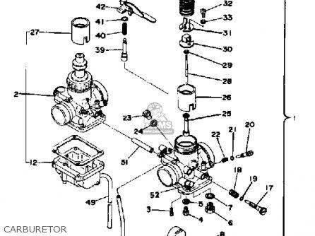 Yamaha Rd400d 1976/1977 parts list partsmanual partsfiche