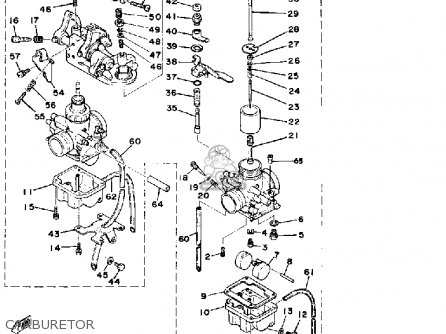 Yamaha Rd400f 1979 parts list partsmanual partsfiche