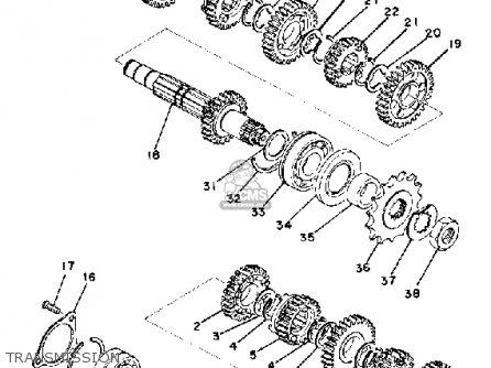 Yamaha Rd400f 1979 parts list partsmanual partsfiche