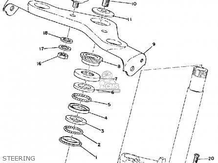 Yamaha Rd60b 1973-1975 parts list partsmanual partsfiche
