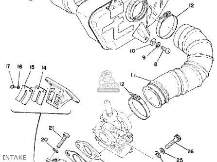 Yamaha Rs100 1975 Usa parts list partsmanual partsfiche