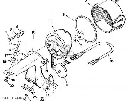 Yamaha RS100 1975 USA parts lists and schematics