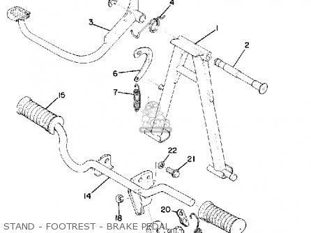 Yamaha Rs100 1976 Usa parts list partsmanual partsfiche