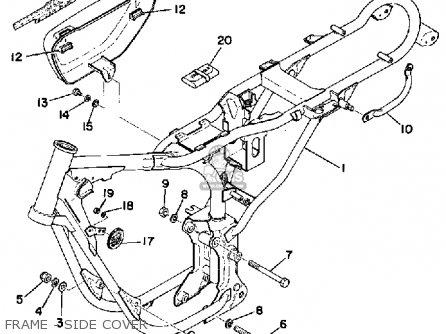 Yamaha Rs100b 1975 parts list partsmanual partsfiche