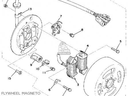 Yamaha Rs100c 1976 parts list partsmanual partsfiche
