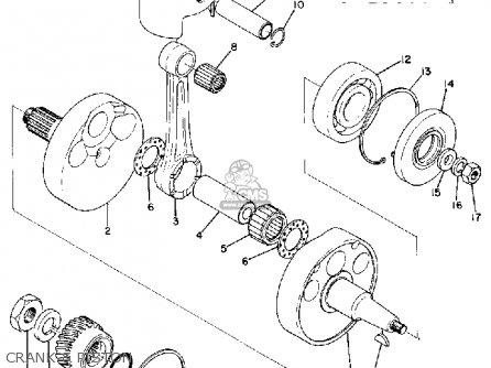 Yamaha Rt1 1970/1971 parts list partsmanual partsfiche