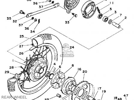 Yamaha Rt100 1990 (l) Usa parts list partsmanual partsfiche